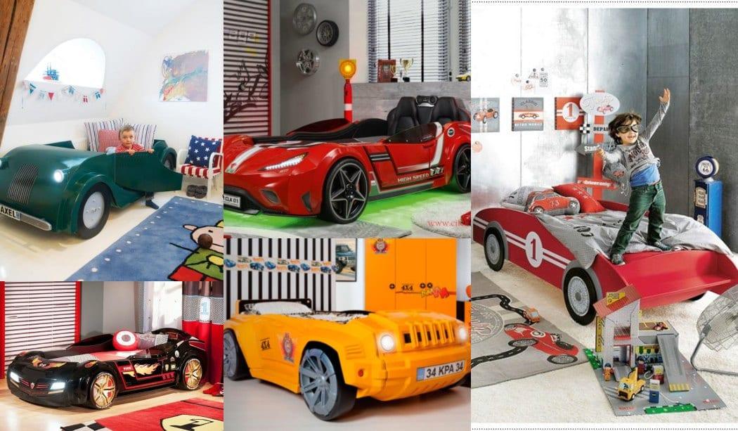 Cama con forma de coche para niños Modelos, fotos