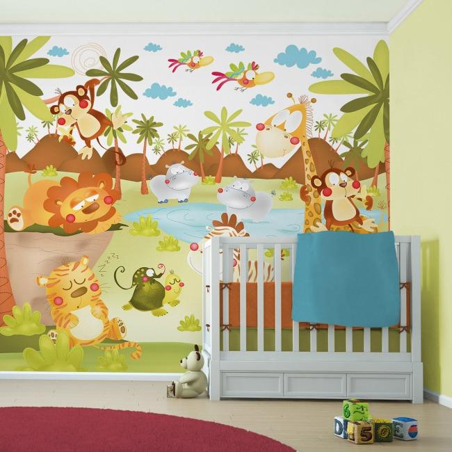 Murales para decorar paredes decoraci n infantil decoideas - Dibujos para habitacion nina ...