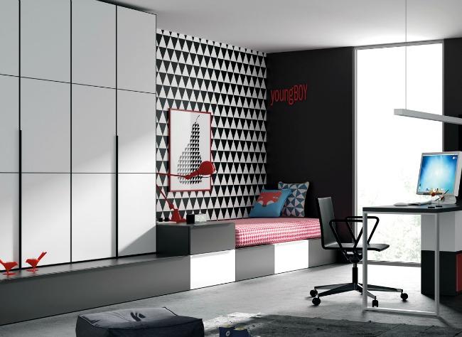 Espacios juveniles con muebles de diseño. Decoideas.net