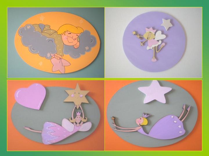 Accesorios decoración infantil pintado a mano cuadros