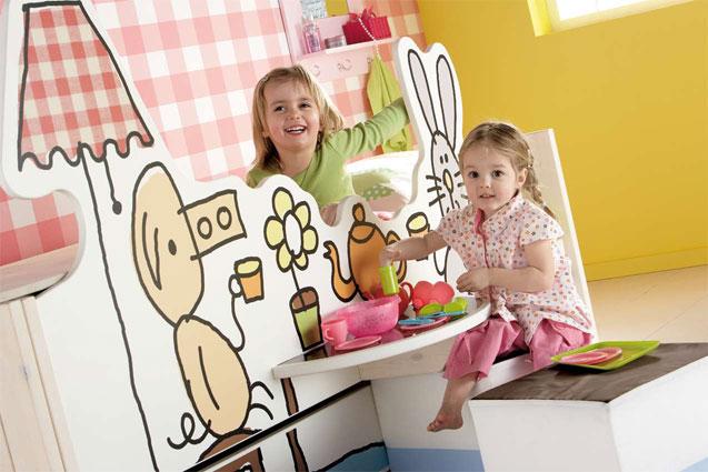 habitación infantil tea time