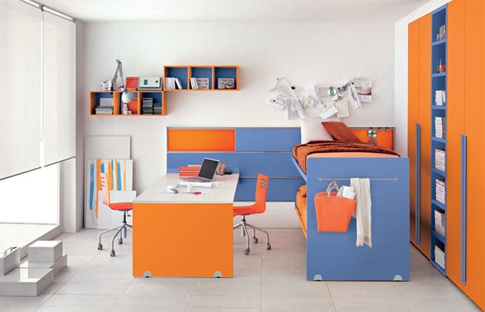 Dise o italiano para las habitaciones juveniles for Recoger muebles