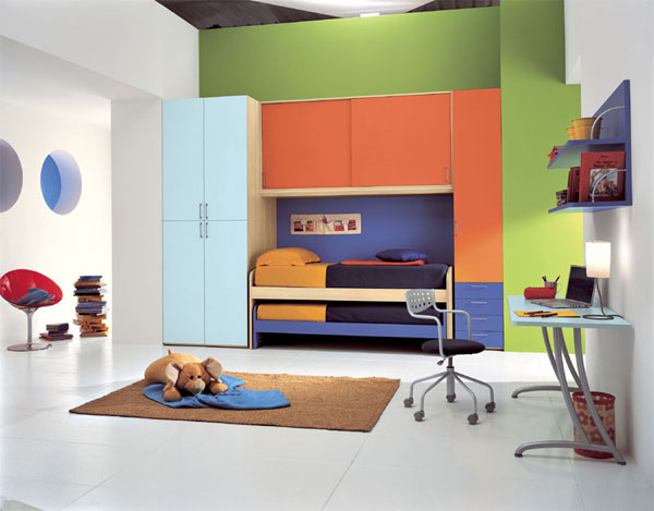 Dise o italiano para las habitaciones juveniles - Dormitorios modulares juveniles ...