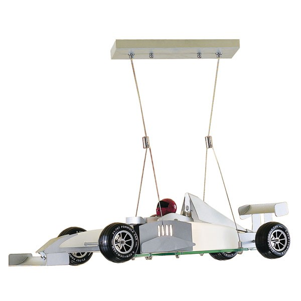 lámpara coche de carreras