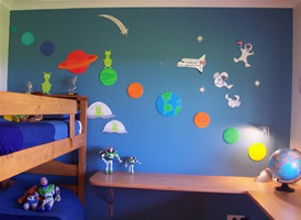 decoracion pared espacio