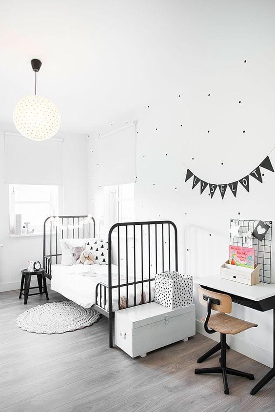 Habitaciones infantiles en color blanco