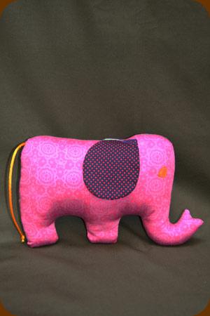 mascota de tela elefante