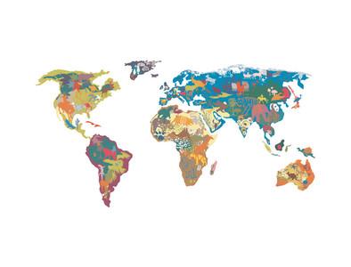 pegatina de pared mapa mundi