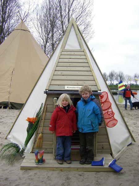 tipi de madera para niños