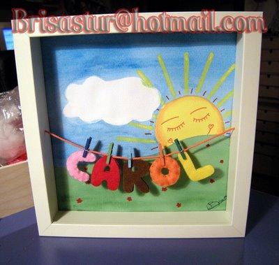 cuadros para niños con nombre