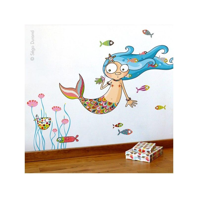 sper bonito este vinilo sirena perfecto para las infantiles con un toque marino o playero y en definitiva para cualquier dormitorio de nia
