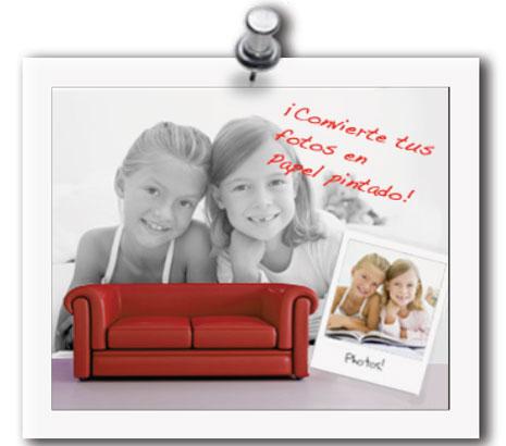 papel personalizado con foto