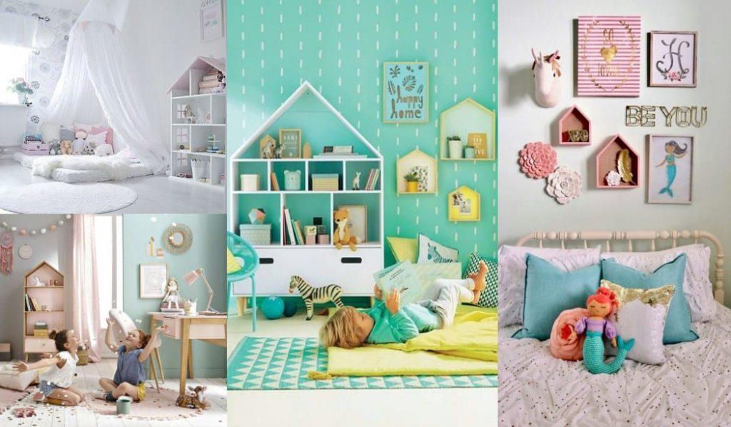Estantería casita para espacios infantiles