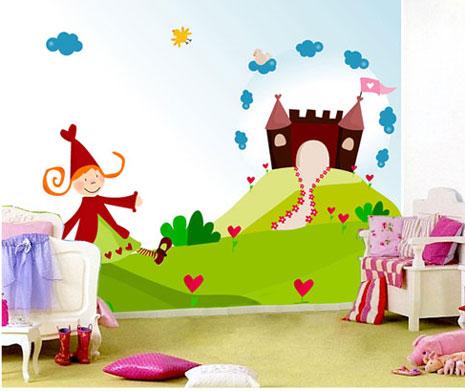 mural princesa y castillo