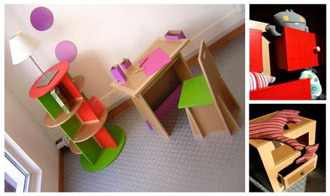 muebles de carton para niños