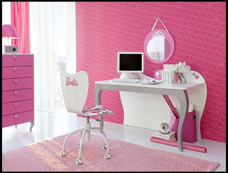 habitacion infantil barbie