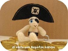 muñeco ostito pirata