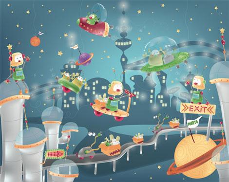 Murales para habitaciones infantiles - Dibujos para paredes de bebes ...