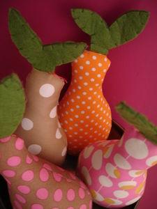 helados y frutas de tela