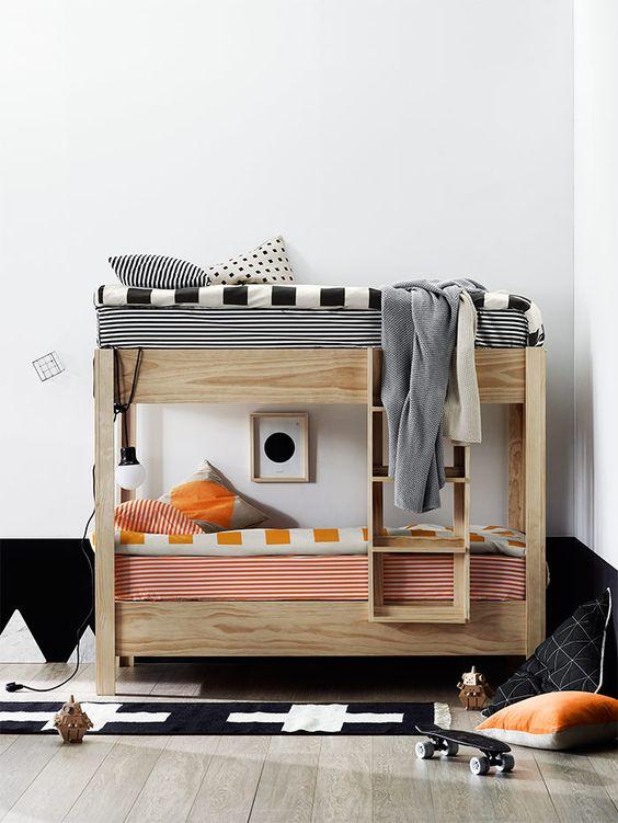 Habitaciones modernas con literas