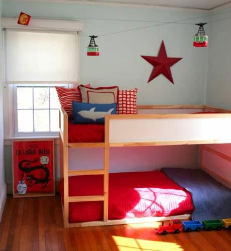 Inspiracion dormitorios infantiles con literas decoideas - Dormitorios infantiles para dos ...
