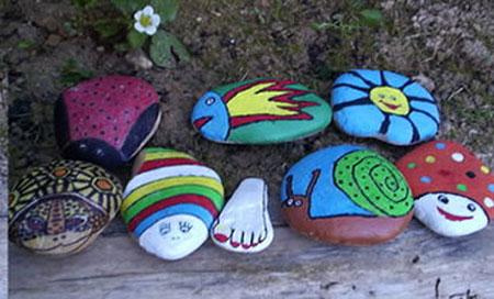 Manualidades con ni os pintar piedras for Pintura para pintar piedras