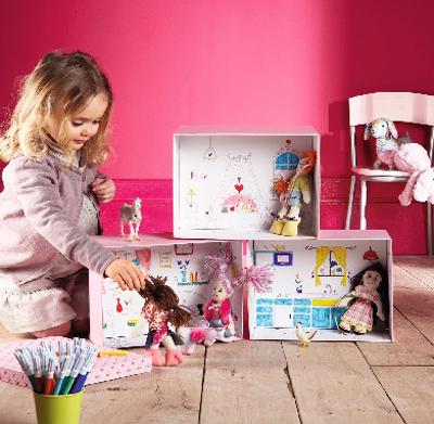 caja casita de muñecas
