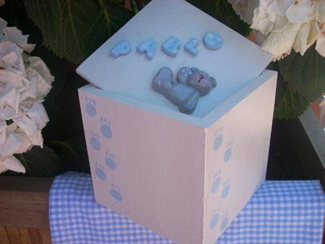 Cajitas decoradas personalizables - Cajas decoradas para bebes ...