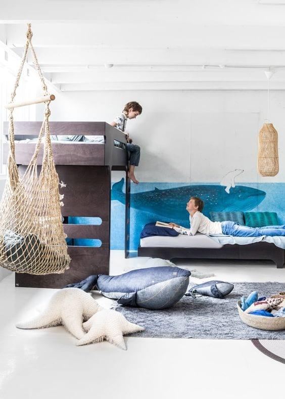 Dormitorios infantiles con columpio