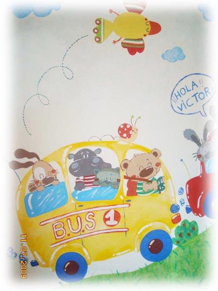 mural pintado infantil