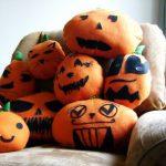 Hacer un cojín con forma de calabaza de Halloween