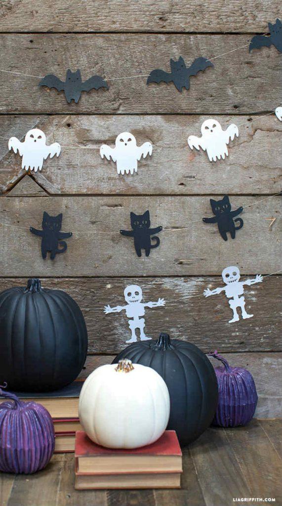 Guirnaldas de Halloween para imprimir