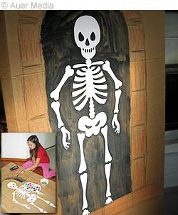 Plantilla para hacer un esqueleto de Halloween