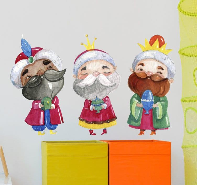 Vinilo Reyes Magos ideal para decorar la habitación de los niños