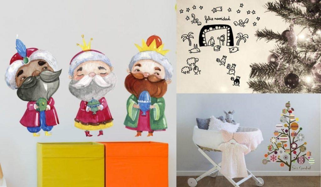 Bonitos y originales vinilos navideños para niños