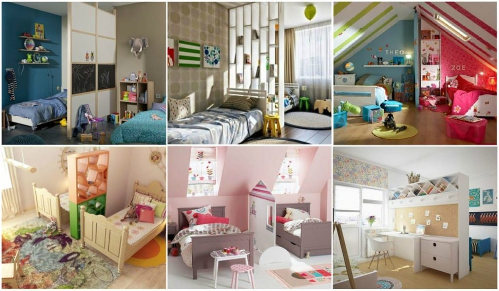 Cómo dividir una habitación para niño y niña- Consejos y fotos
