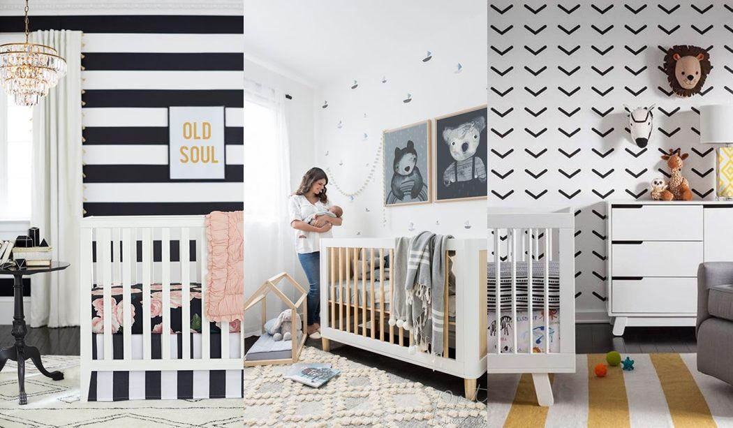 Habitaci n beb en blanco y negro - Habitaciones bebe pequenas ...