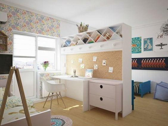 Cómo dividir una habitación para niño y niña