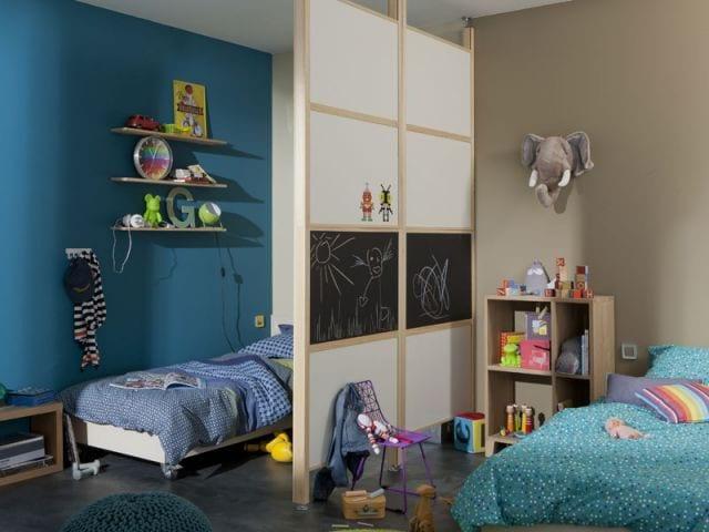 Cómo dividir una habitación para niño y niña - Consejos y fotos