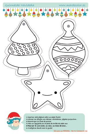 Manualidades para ni os guirnalda navide a for Decoracion navidena para ninos