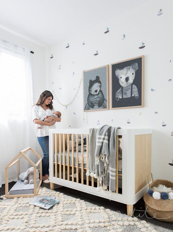 Dormitorios en blanco y negro para bebés
