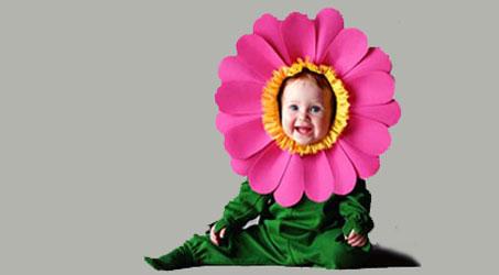 disfraz bebe flor