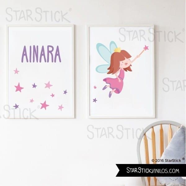 Láminas con nombre de StarStick