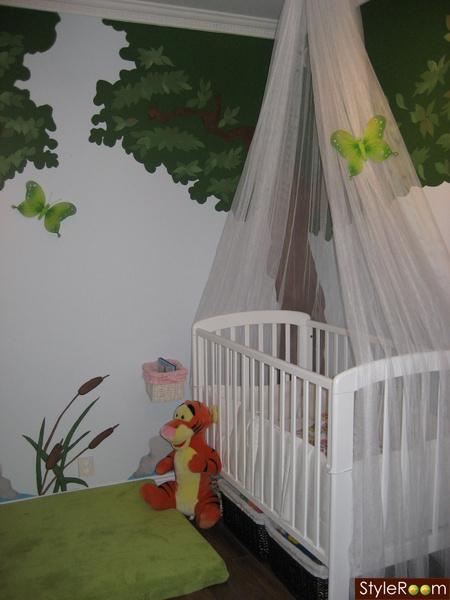 Habitación bebé bosque