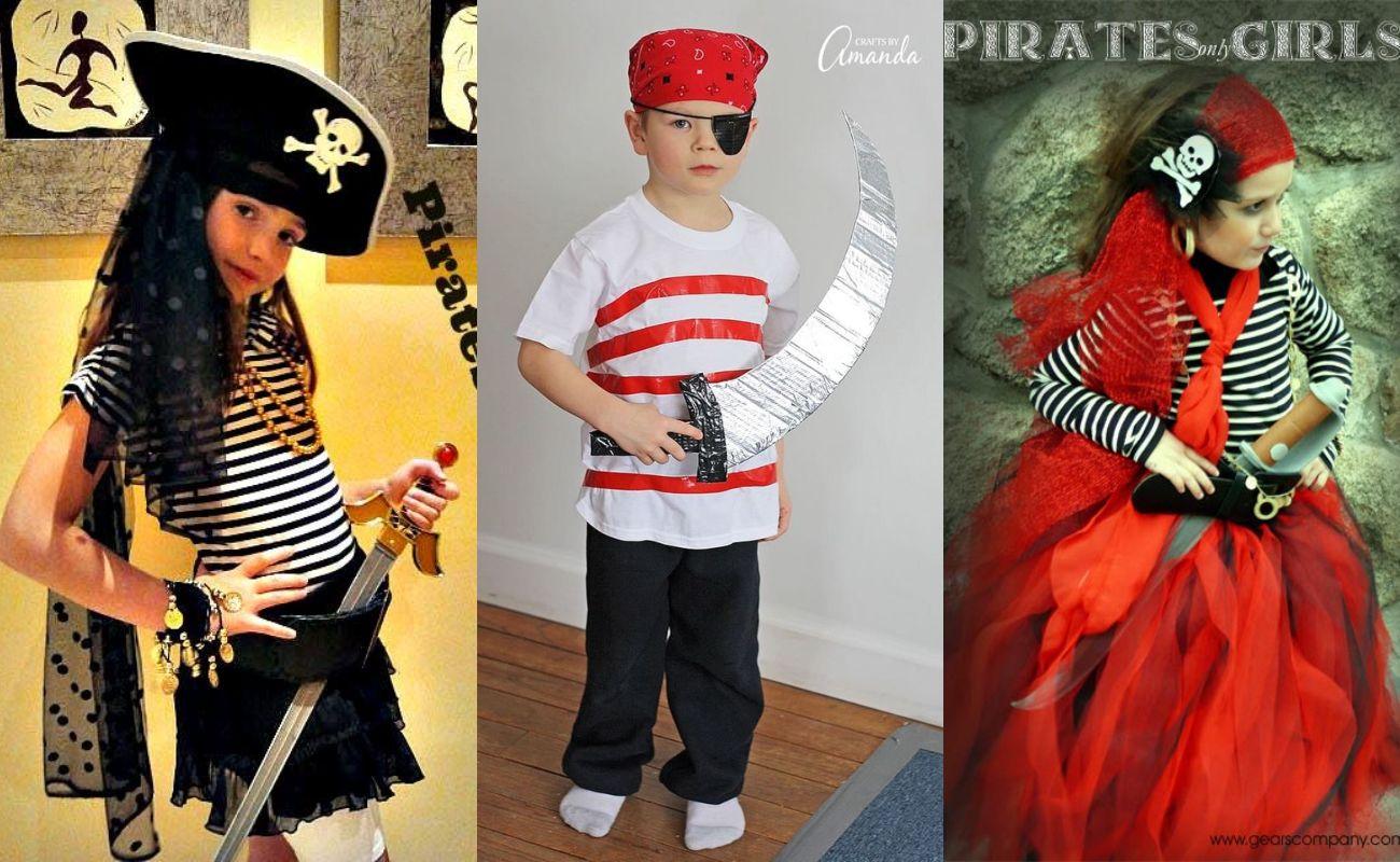 Disfraz De Pirata Casero Para Niñas Para Niños Para Grupos