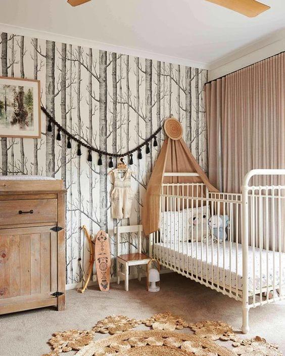 Decorar habitaci n beb bosque decoraci n infantil for Decoracion habitacion bebe papel pintado