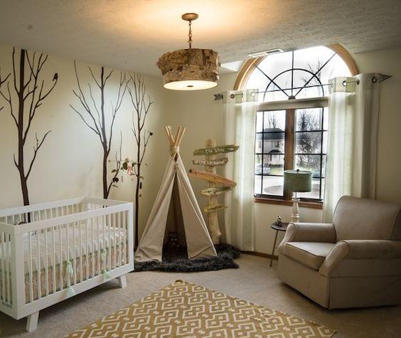 Habitación bebé bosque, ideas, fotos