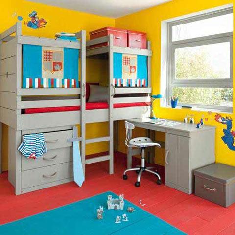 Cama alta para habitaciones infantiles for Habitaciones con camas altas