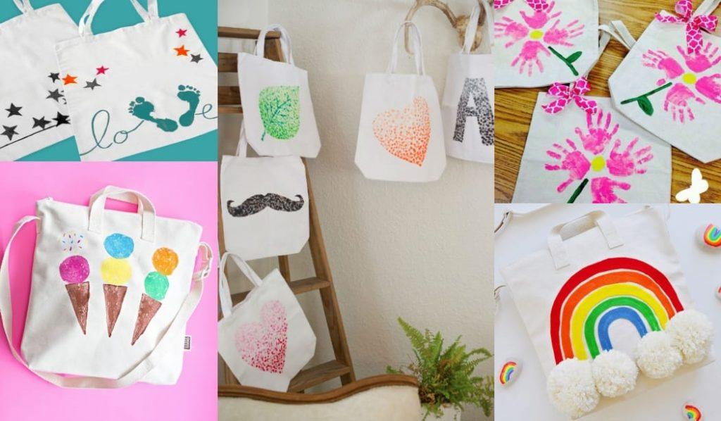 Bolsas decoradas para el Día de la Madre