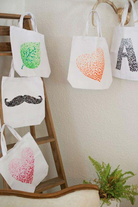 Bolsas decoradas DIY